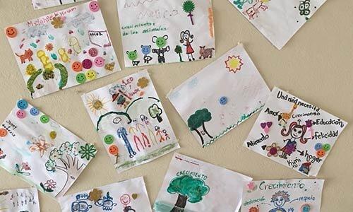Expresiones artísticas de los chicos Semillitas